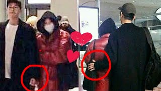 Song Joong Ki holding his Wife 💞back at Paris Airport, Sweet Couple #KikYo #SongSongCouple