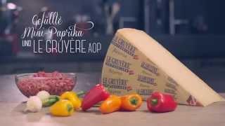 Gefüllte Mini-Paprikas mit Le Gruyère AOP Réserve Video
