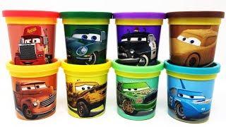 Cars 3 Animation Play-Doh Surprise Toys Mack Hauler Smokey David Hobbscapp Taco Sheriff