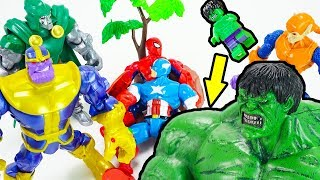 It's THANOS! GO HULK! You Are The Last Hope Of Avengers! Save Captain America Spiderman | TOYMOON