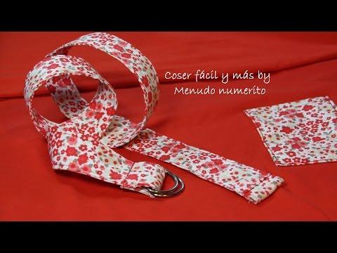 Cómo hacer un cinturón de tela ajustable