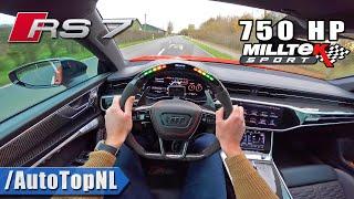 2021 AUDI RS7 C8 *SUPER LOUD* MILLTEK POV Test Drive by AutoTopNL