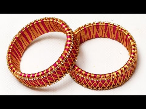 How To Make Beautiful Silk Thread Bangles new Designs | DIY | Jewelry Making at home