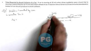 7. Physics   Kinematics   Time Required to Avoid Collision of a Car   by Ashish Arora (GA)