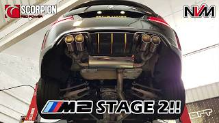 BMW M2 Scorpion Exhaust and NVM 430 Bhp!! Stage 2 Mapping - ///NVM2 Update on the Dyno