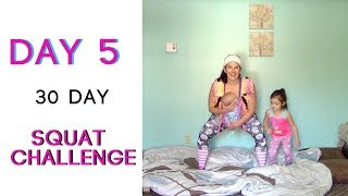 DAY 5 | 30 Day Squat Challenge | 100 SQUATS Daily | Babywearing Workout | Fitness For Mamas