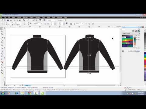 Cara Membuat Desain Baju Jaket Kereeen Depan Belakang Di Coreldraw X4