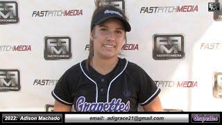 2022 Adison Machado 4.3 GPA Athletic Middle Infielder Softball Skills Video - CA Grapettes 18 Gold