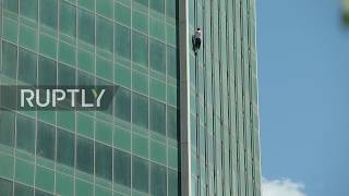 Russia: Spiderman goes to jail for skyscraper-scaling