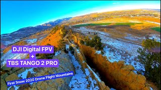 Drone Flying Colorado Mountain Ridge - FPV Drone First Flight with new TBS Tango 2 Pro controller