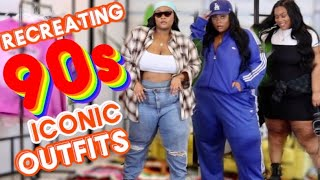 RECREATING 90'S POPULAR CELEBRITY OUTFITS!