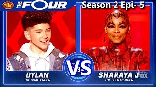 "Sharaya J vs Dylan Jacob Rappers Battle ""She's A Bitch"" The Four Season 2 Ep. 5 S2E5"