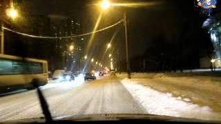 Правильное торможение автомобиля зимой