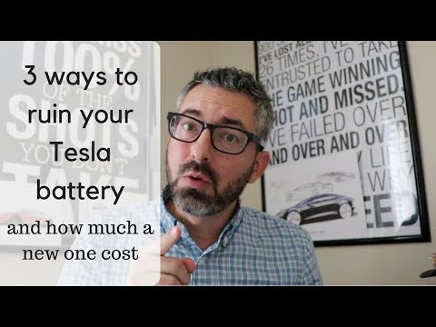 3 ways to ruin your Tesla battery and how much a new one cost