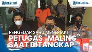 Pengedar Sabu di Sekarbela Kota Mataram Teriaki Petugas 'Maling' saat Ditangkap