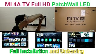 Mi TV 4A (43 inch) Full Depth Review | Full Installation with Unboxing by Tech Visit |