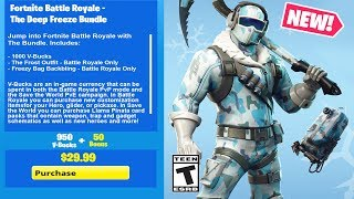 How To Get The Deep Freeze Bundle In Fortnite Battle Royale 免费