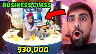 HIDE AND SEEK IN $30,000 EMIRATES BUSINESS CLASS ...