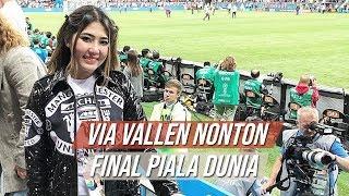 Via Vallen Bagikan Momen saat Nonton Langsung Laga Final Piala Dunia 2018 antara Prancis Vs Kroasia