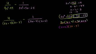Adding Rational Expressions Example 3