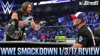 WWE Smackdown 1/3/17 Review, Results & Reactions: Ambrose vs The Miz, Styles & Cena Contract Signing