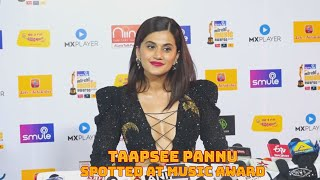 Taapsee Pannu Spotted At Mirchi Music Award (Video)