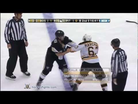 Matt Niskanen vs. Brad Marchand
