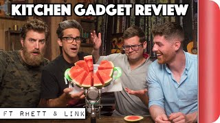 Chefs Vs Normals Review Kitchen Gadgets | Ft. Rhett and Link