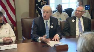 President Trump Leads a Listening Session with Truckers and CEOs Regarding Healthcare