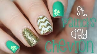 St  Patricks Day Chevron Nails | NailsByErin
