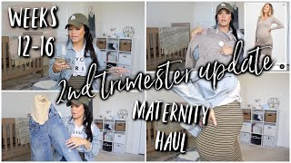 2nd Trimester Pregnancy Update | Weeks 12-16 + Maternity Clothing HAUL!