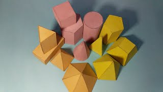How to make shapes / geometric shapes model making / 3d geometric shapes / mathematical shapes.