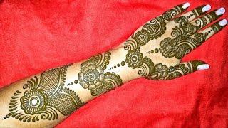 STYLISH & UNIQUE BANGLE / BELT STYLE HENNA MEHNDI DESIGN || Mehndi By Bhagyashree