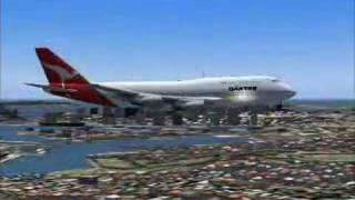 preview picture of video '747 QANTAS Summer Holiday  fs2004'