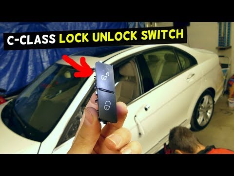 How to remove Mercedes C-class W204 headlight switch - игровое видео