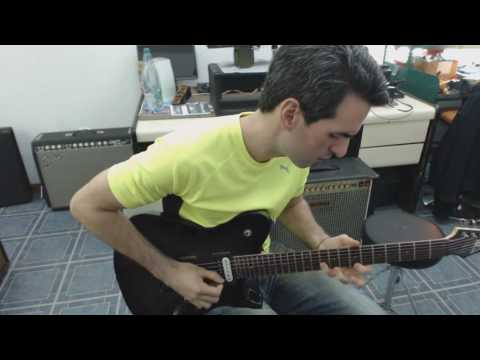 Improvisation over a Latin rock backing track