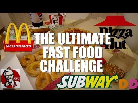 THE ULTIMATE FAST FOOD CHALLENGE (8000+ CALORIES)