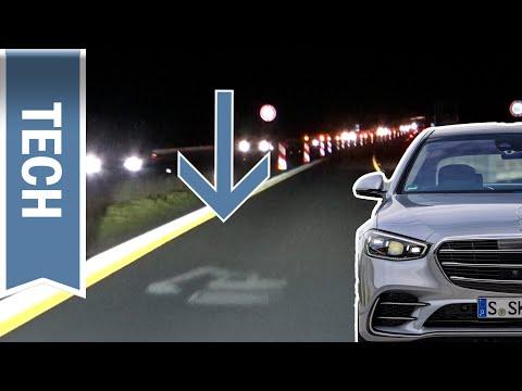 Digital Light in der Mercedes-Benz S-Klasse im (Härte-)Test: Nachtfahrt & Projektionen im Test