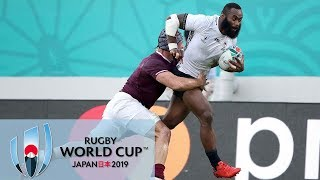 Rugby World Cup 2019: Fiji vs. Georgia   EXTENDED HIGHLIGHTS   10/03/19   NBC Sports