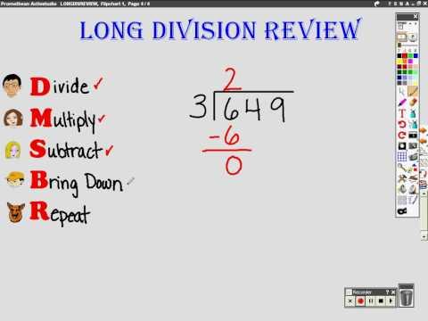 , title : 'Long Division Review'