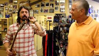 Dave Grohl from the Foo Fighters at Norman's Rare Guitars