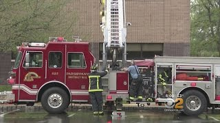 Crews Fight Office Fire In Parsippany, N.J.