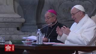 PAPA FRANCESCO iNCONTRA I PARROCI VIDEONEWS 2018-02-15