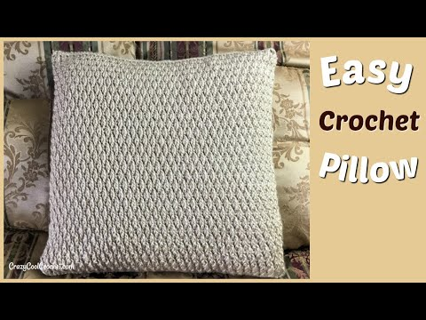 Easy Crochet Alpine Stitch Pillow