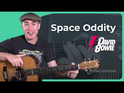 Space Oddity - David Bowie - Acoustic Guitar Lesson Tutorial (ST-357)