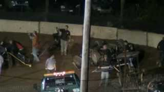preview picture of video '250 Speedway Modified Feature 8-23-2013 Eaton/Smith Crash'