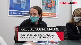 PABLO IGLESIAS PROPONE IMPULSAR LA INDUSTRIA EN MADRID