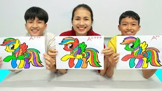 Rainbow Dash My Little Pony, Warna Warni Belajar Menggambar dan Mewarnai untuk Anak
