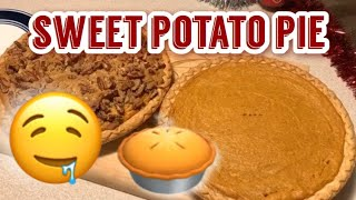 Delicious Sweet potato pie Perfect for the Holidays