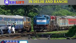 Avail Prime and Safe Train Ambulance Service in Delhi and Ranchi Medilift